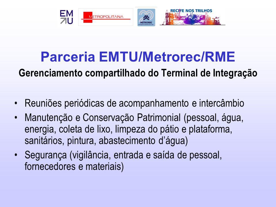 Parceria EMTU/Metrorec/RME