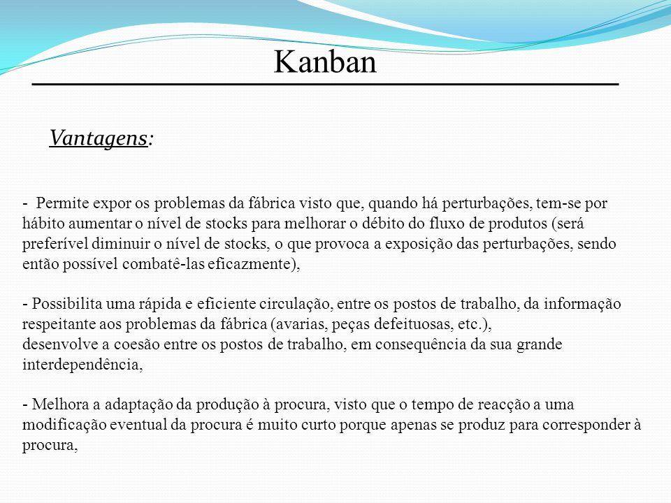 Kanban Vantagens: