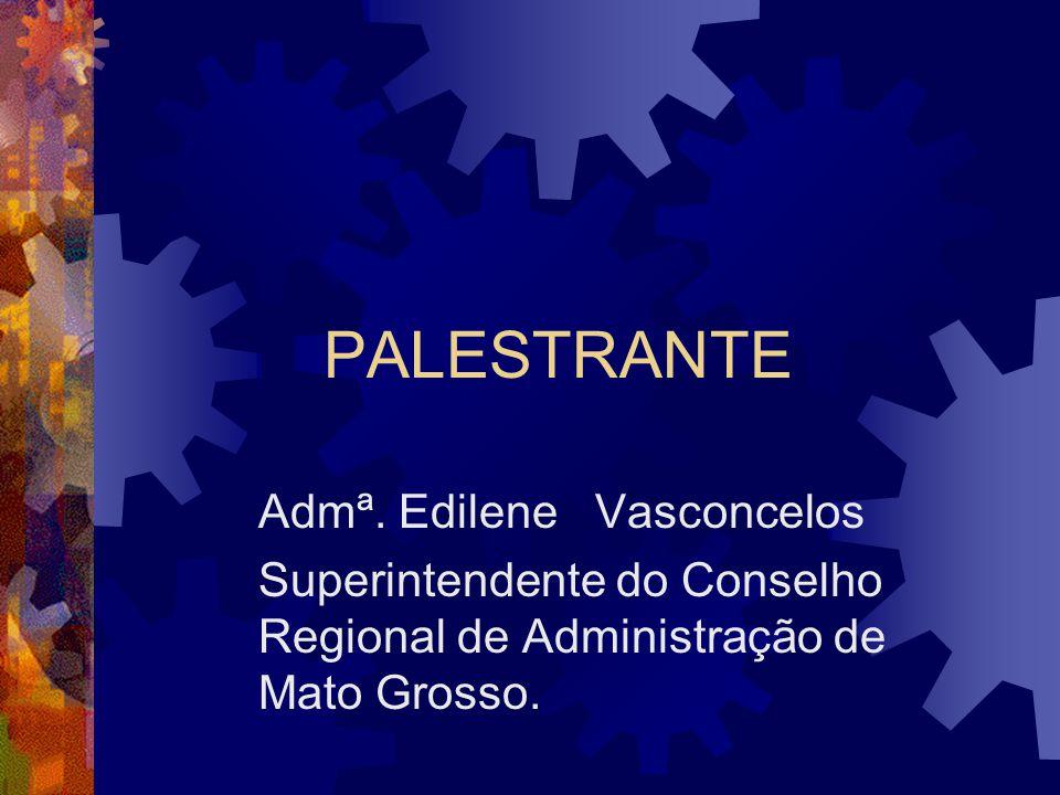 PALESTRANTE Admª. Edilene Vasconcelos