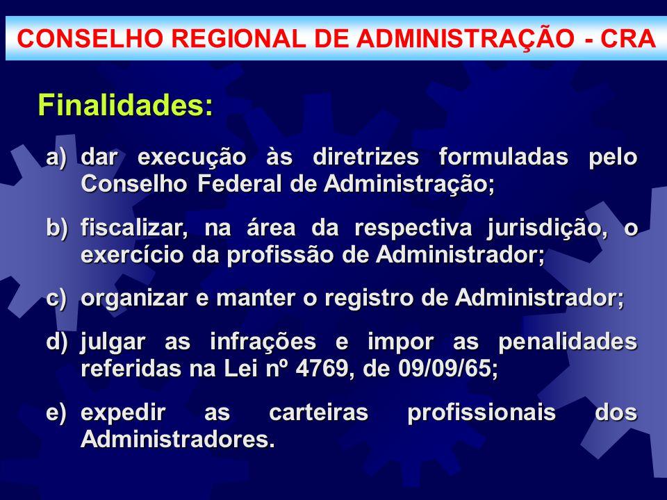 CONSELHO REGIONAL DE ADMINISTRAÇÃO - CRA