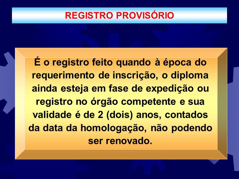 REGISTRO PROVISÓRIO