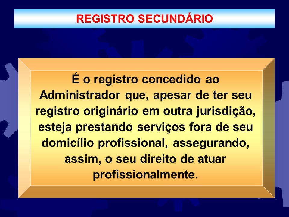 REGISTRO SECUNDÁRIO