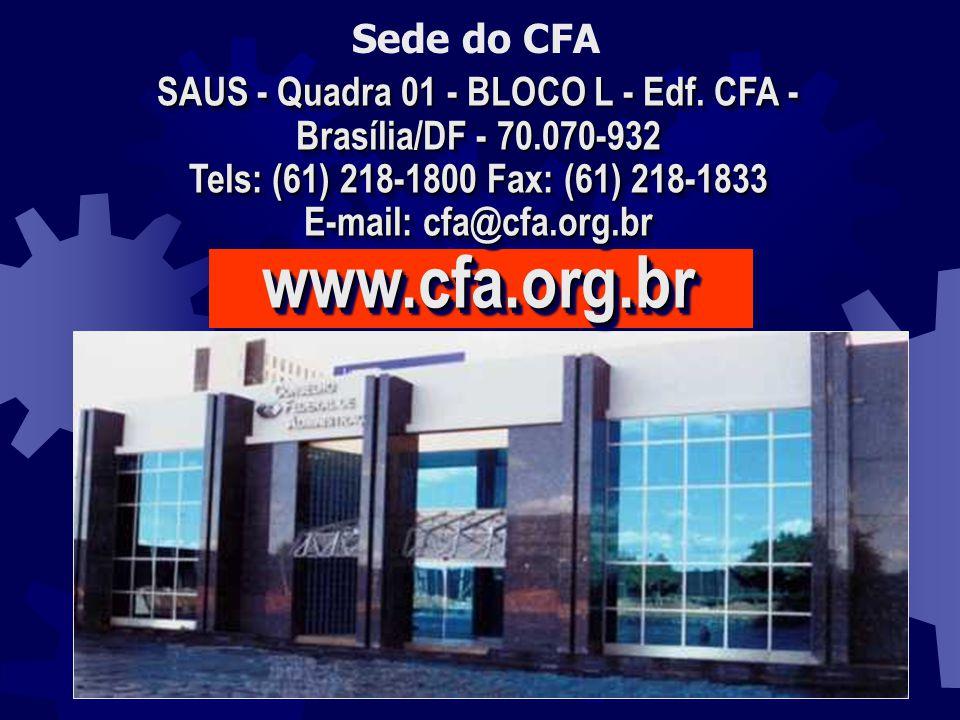 SAUS - Quadra 01 - BLOCO L - Edf. CFA - Brasília/DF - 70.070-932