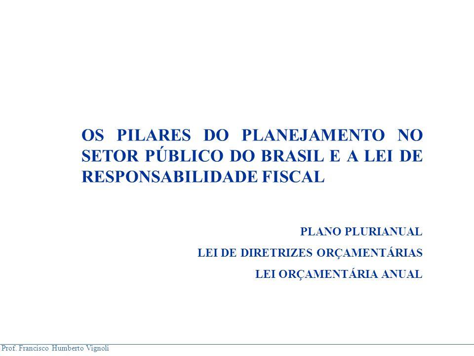 OS PILARES DO PLANEJAMENTO NO SETOR PÚBLICO DO BRASIL E A LEI DE RESPONSABILIDADE FISCAL