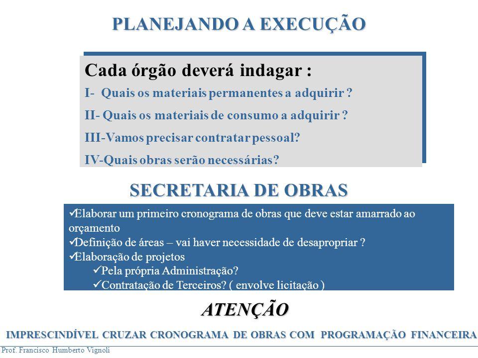IMPRESCINDÍVEL CRUZAR CRONOGRAMA DE OBRAS COM PROGRAMAÇÃO FINANCEIRA