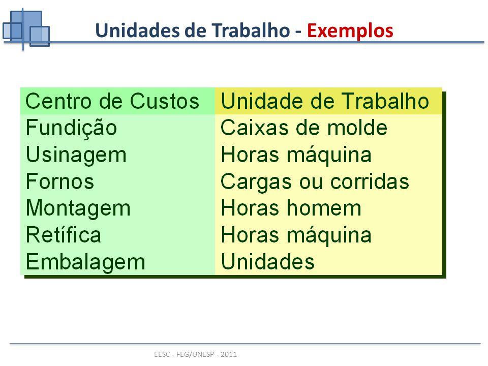 Unidades de Trabalho - Exemplos