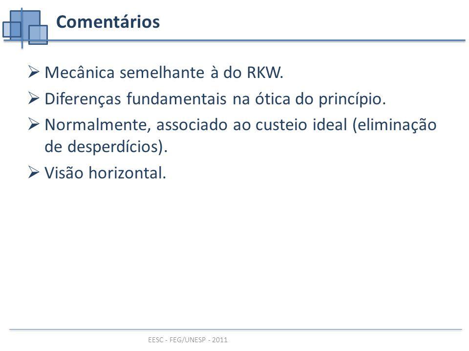 Comentários Mecânica semelhante à do RKW.