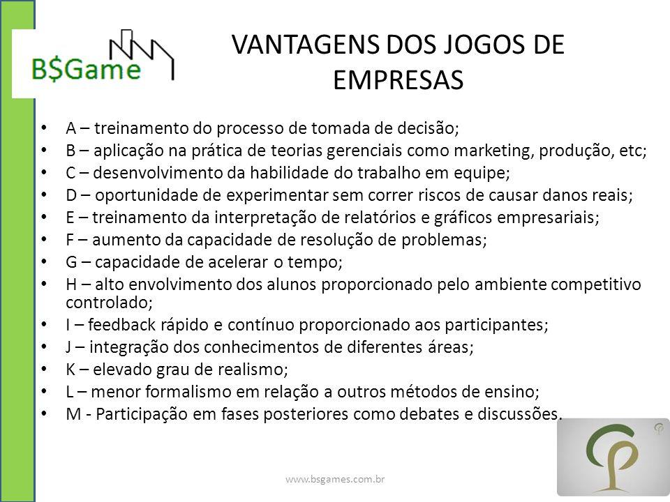 VANTAGENS DOS JOGOS DE EMPRESAS