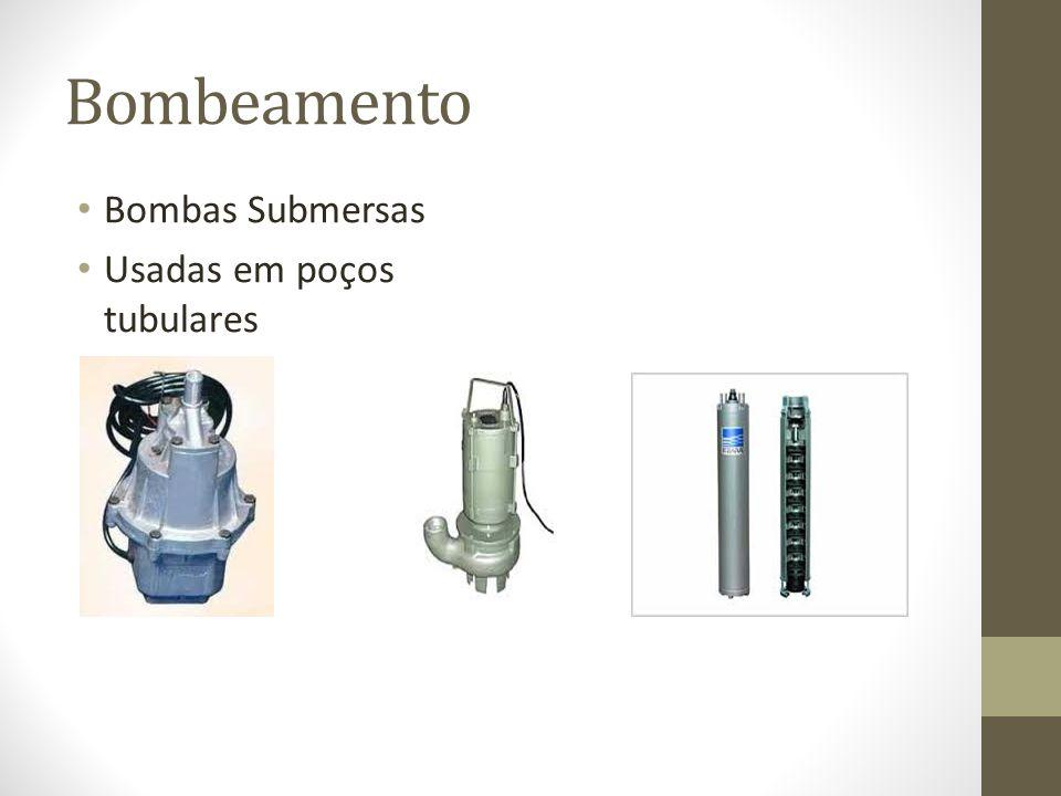 Bombeamento Bombas Submersas Usadas em poços tubulares