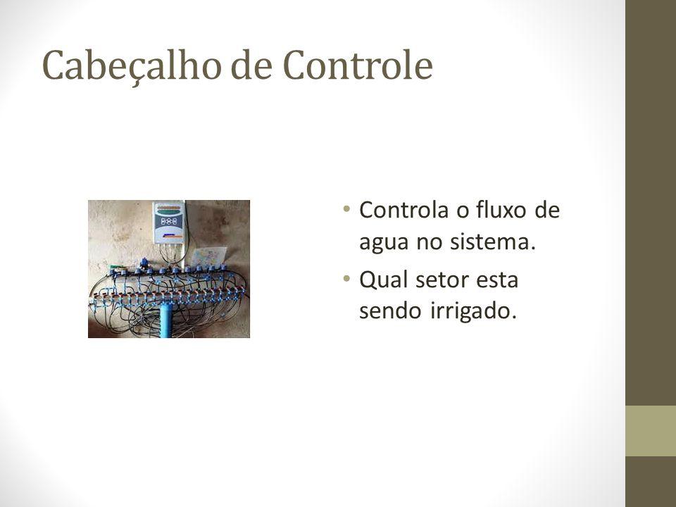Cabeçalho de Controle Controla o fluxo de agua no sistema.