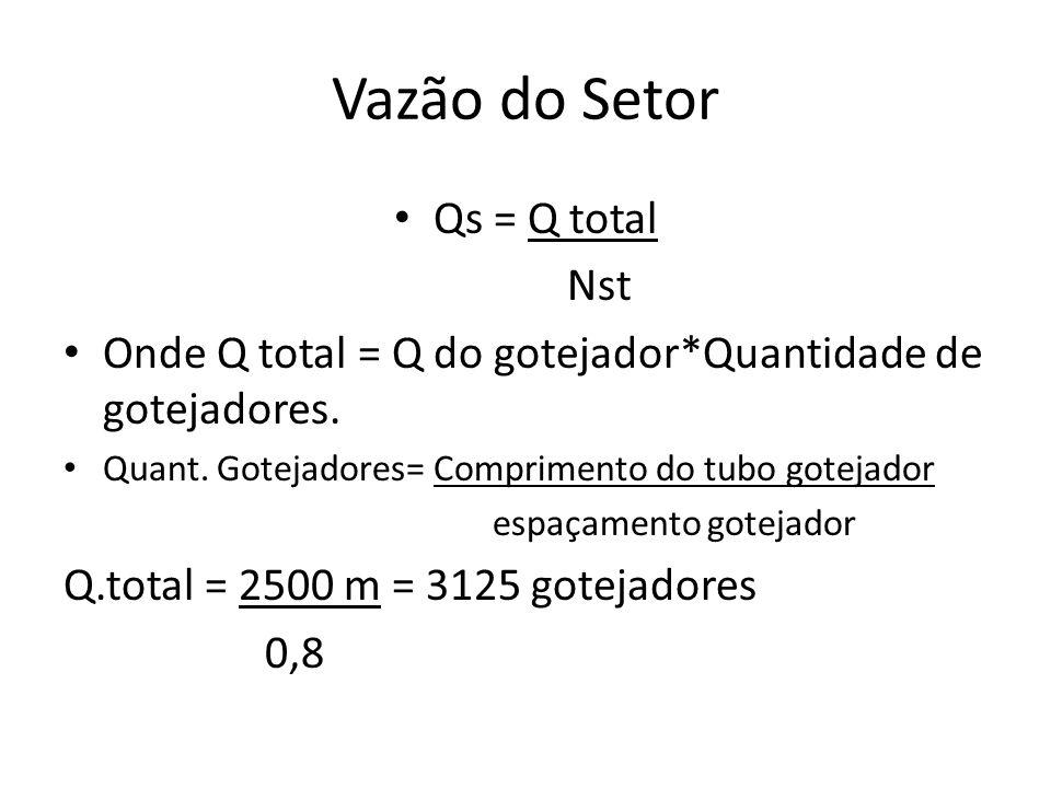 Vazão do Setor Qs = Q total Nst