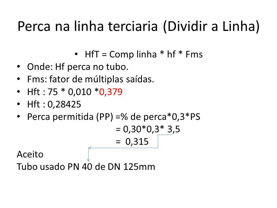 Perca na linha terciaria (Dividir a Linha)