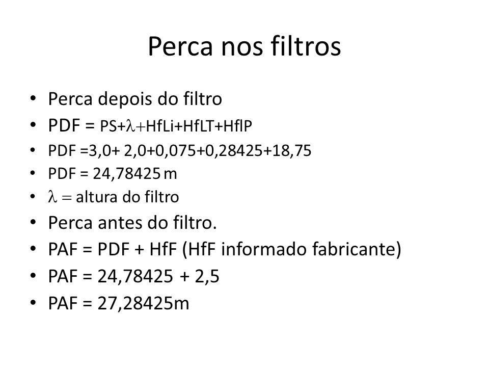 Perca nos filtros Perca depois do filtro PDF = PS+l+HfLi+HfLT+HflP