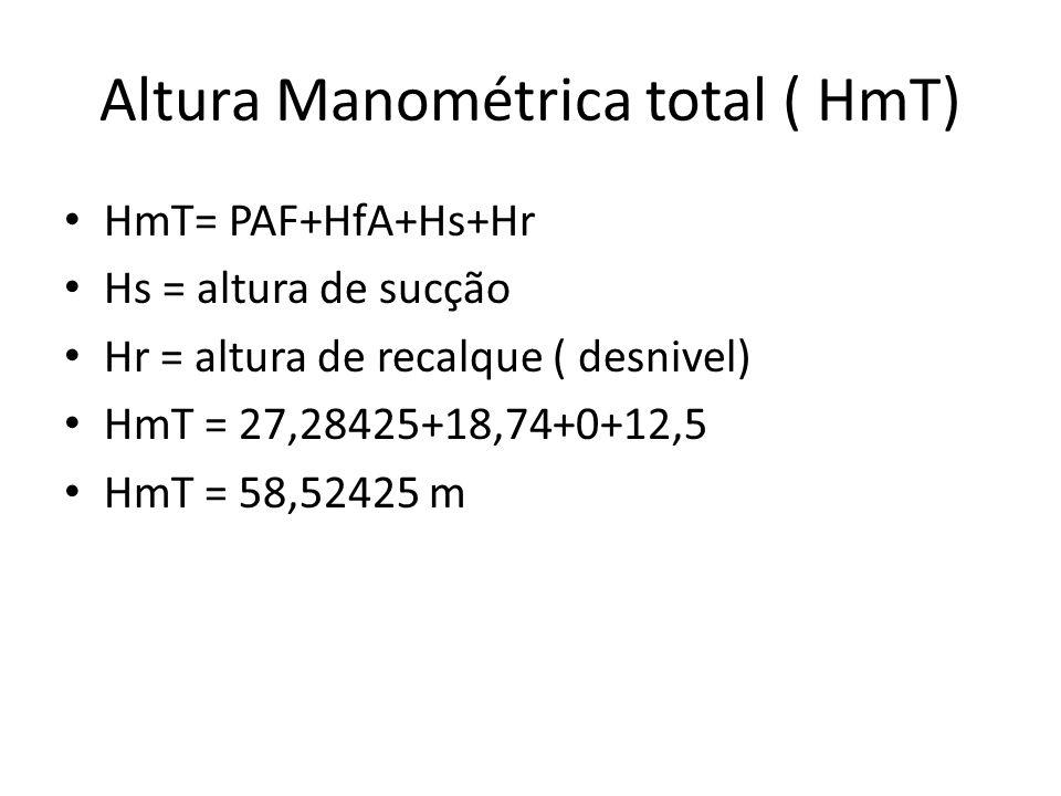 Altura Manométrica total ( HmT)