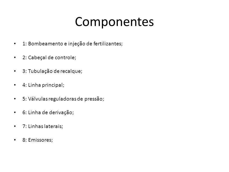 Componentes 1: Bombeamento e injeção de fertilizantes;