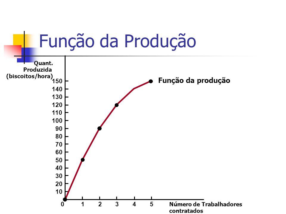 Função da Produção Função da produção 150 140 130 120 110 100 90 80 70