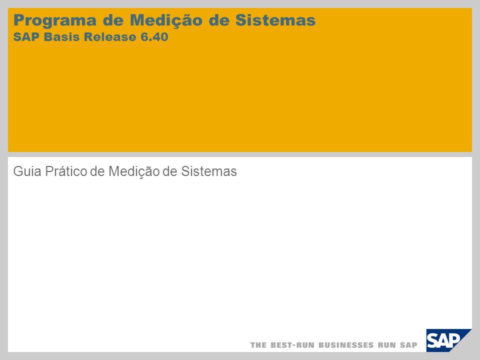 Programa de Medição de Sistemas SAP Basis Release 6.40