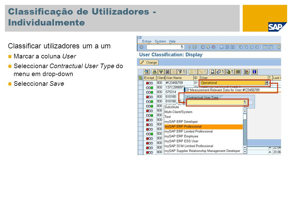 Classificação de Utilizadores - Individualmente