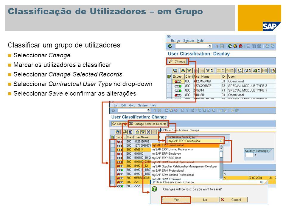 Classificação de Utilizadores – em Grupo
