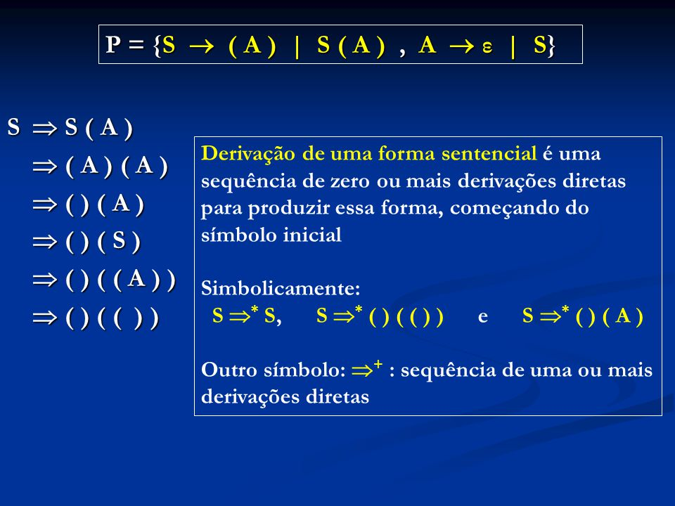 S * S, S * ( ) ( ( ) ) e S * ( ) ( A )