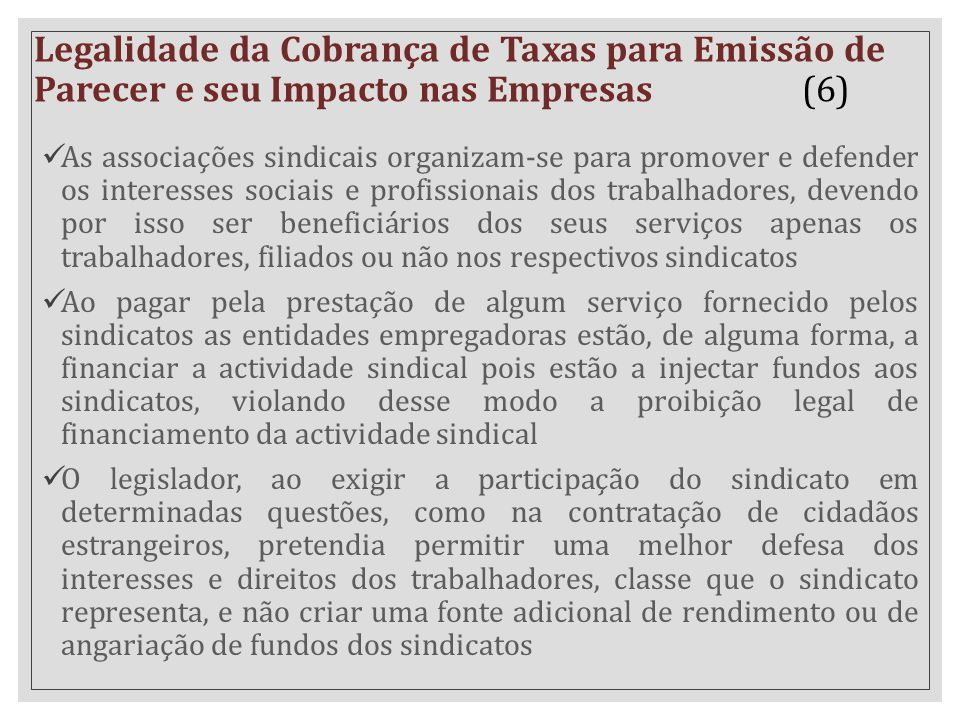 Legalidade da Cobrança de Taxas para Emissão de Parecer e seu Impacto nas Empresas (6)