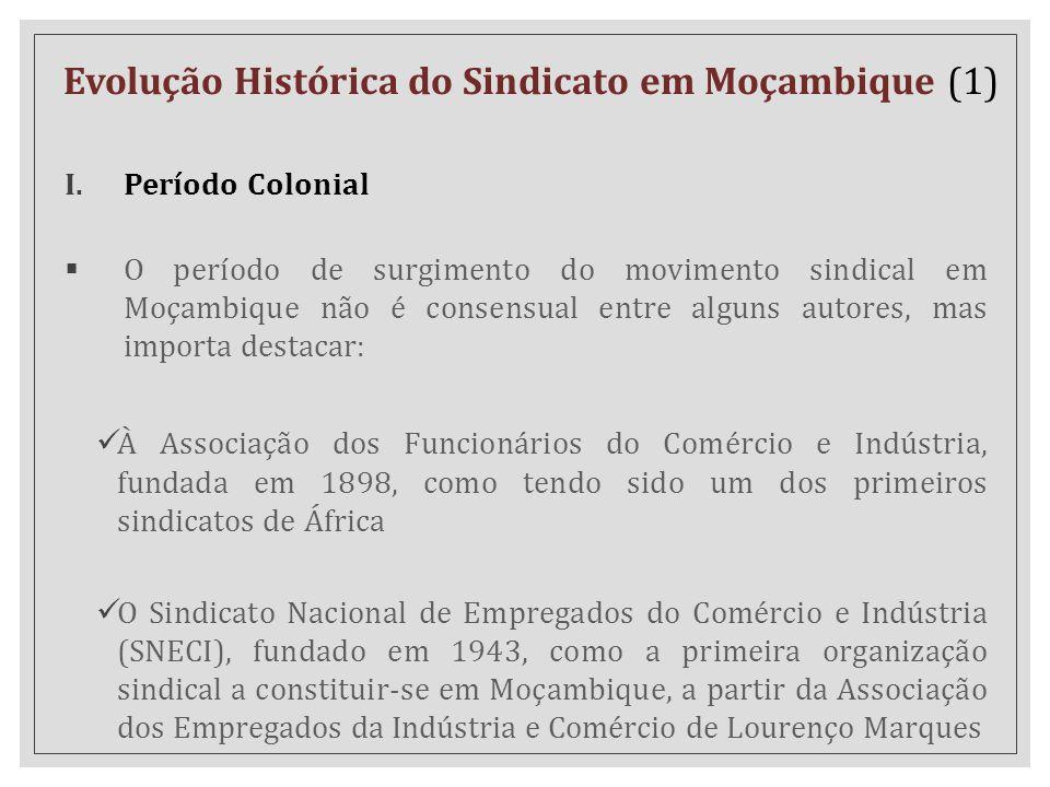 Evolução Histórica do Sindicato em Moçambique (1)