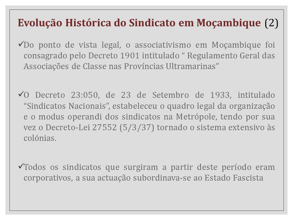 Evolução Histórica do Sindicato em Moçambique (2)