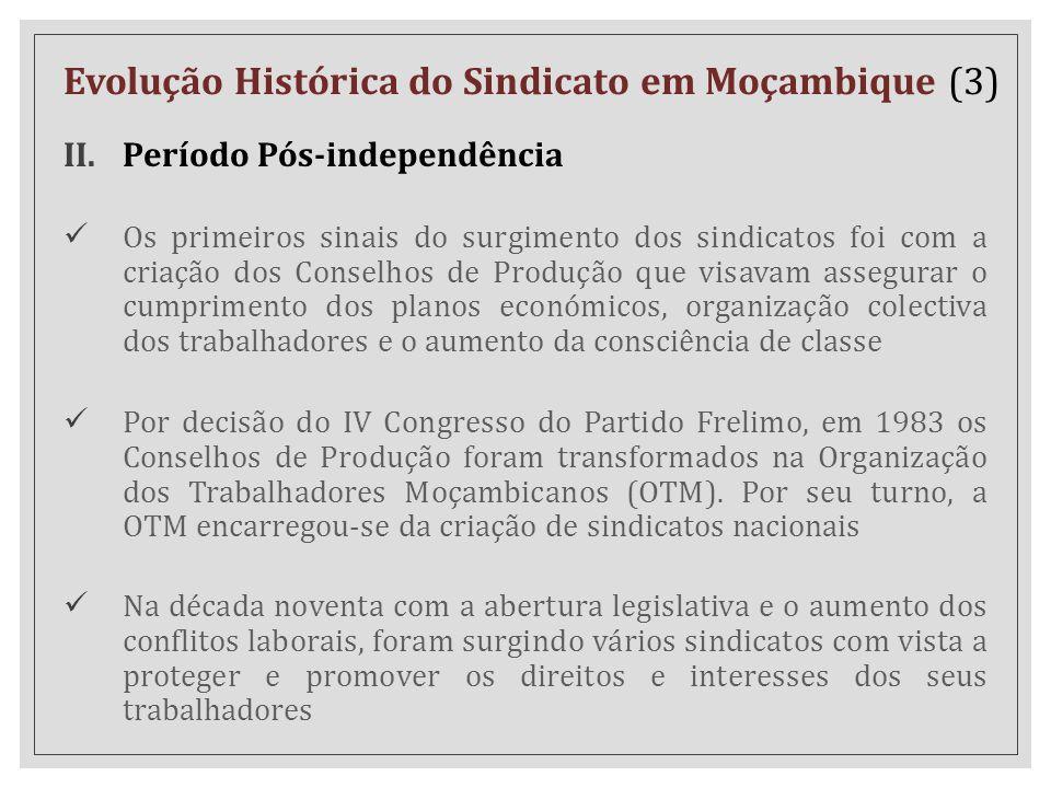 Evolução Histórica do Sindicato em Moçambique (3)