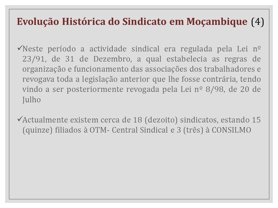 Evolução Histórica do Sindicato em Moçambique (4)