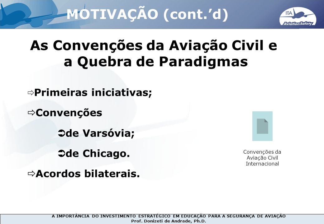 As Convenções da Aviação Civil e