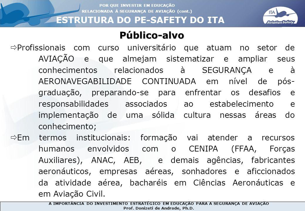 Público-alvo ESTRUTURA DO PE-SAFETY DO ITA