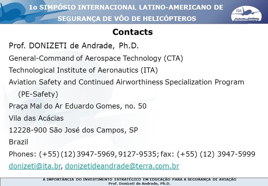 Contacts Prof. DONIZETI de Andrade, Ph.D.