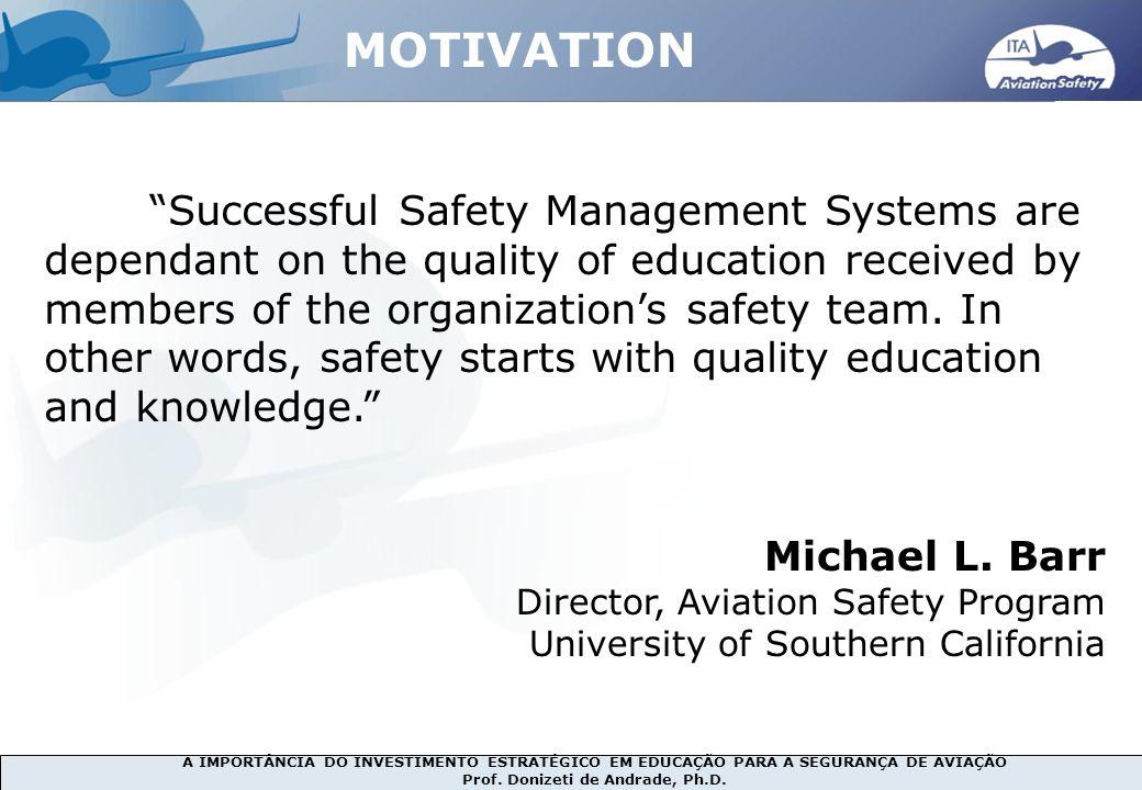 MOTIVATION Michael L. Barr Director, Aviation Safety Program