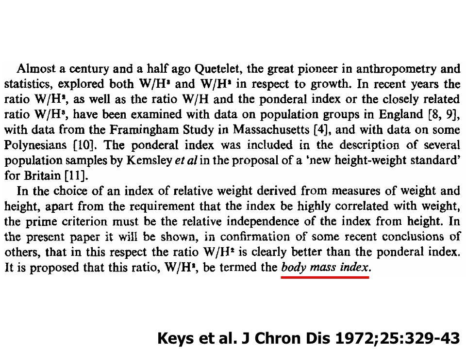 Keys et al. J Chron Dis 1972;25:329-43