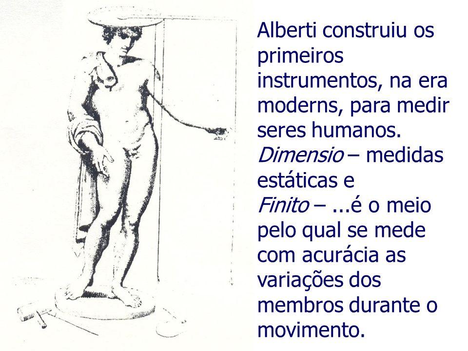 Alberti construiu os primeiros instrumentos, na era moderns, para medir seres humanos.