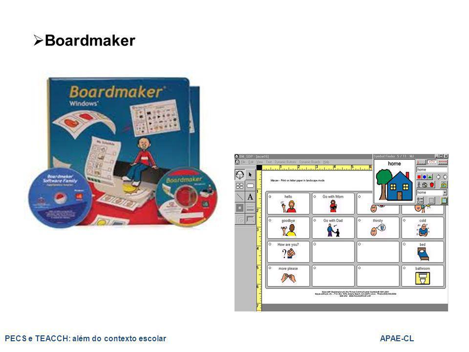 Boardmaker PECS e TEACCH: além do contexto escolar APAE-CL