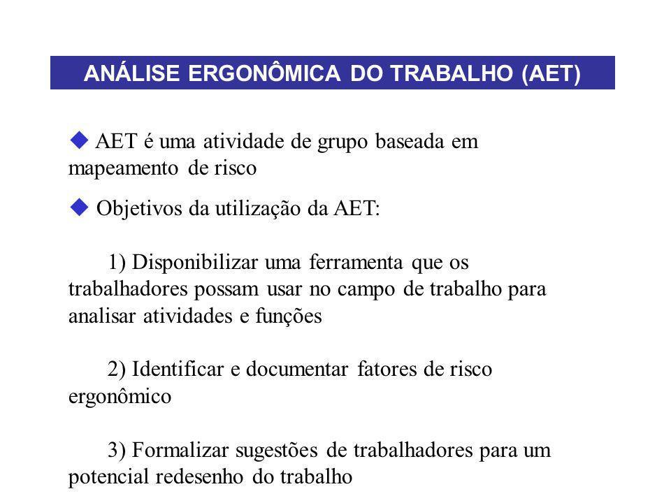 ANÁLISE ERGONÔMICA DO TRABALHO (AET)
