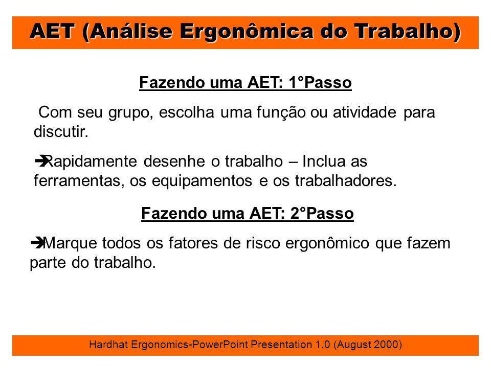 AET (Análise Ergonômica do Trabalho)