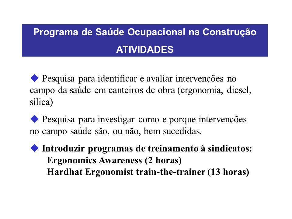 Programa de Saúde Ocupacional na Construção