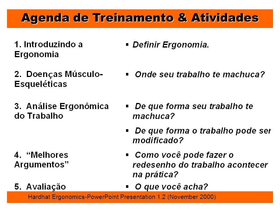 Agenda de Treinamento & Atividades
