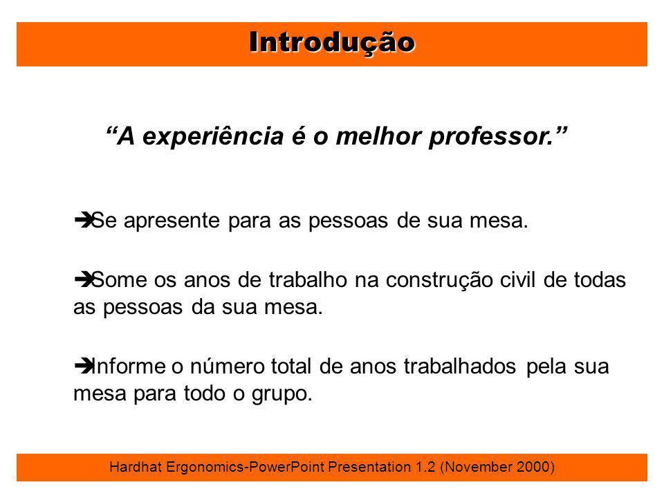 A experiência é o melhor professor.