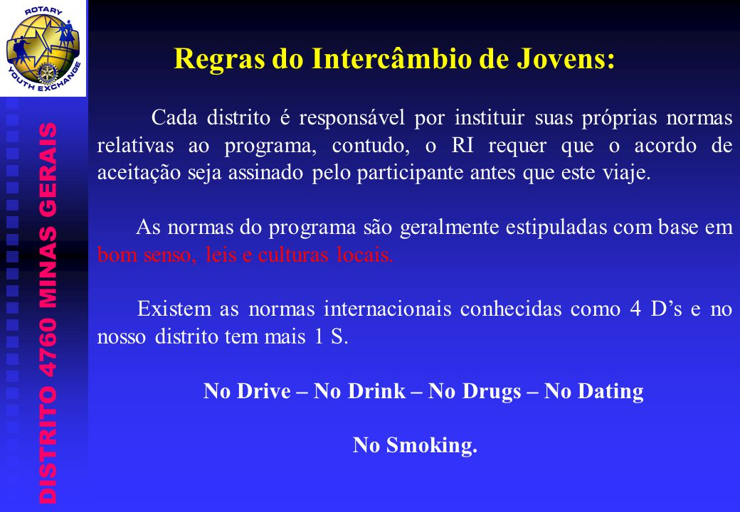 No Drive – No Drink – No Drugs – No Dating