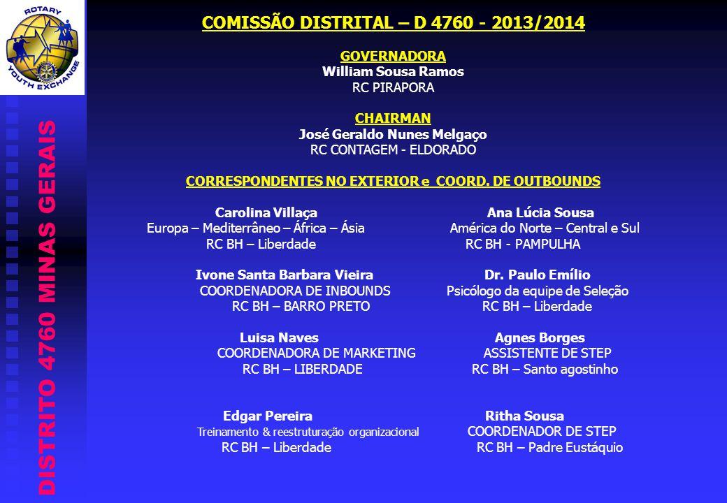 DISTRITO 4760 MINAS GERAIS COMISSÃO DISTRITAL – D 4760 - 2013/2014