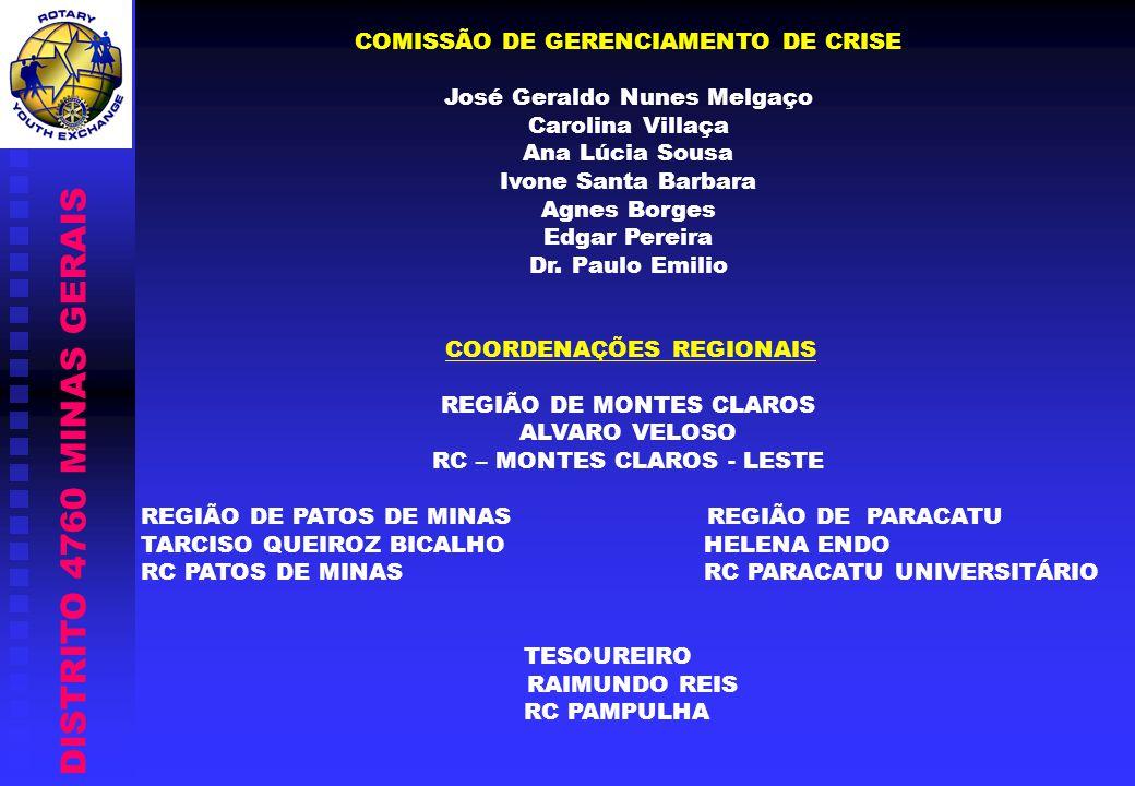 DISTRITO 4760 MINAS GERAIS COMISSÃO DE GERENCIAMENTO DE CRISE