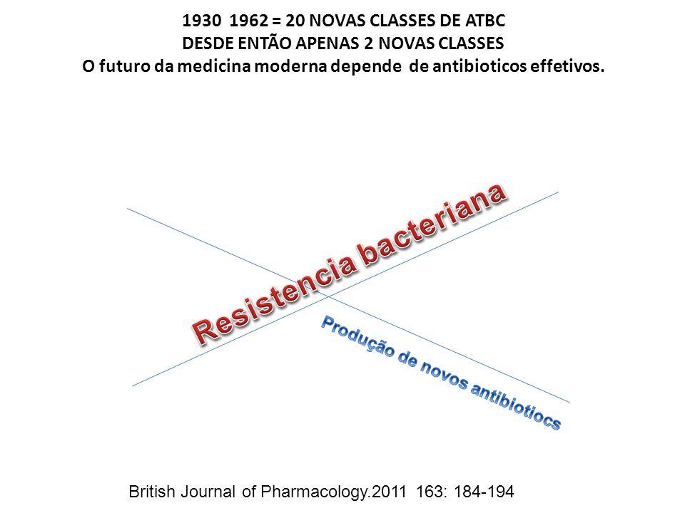 Resistencia bacteriana Produção de novos antibiotiocs