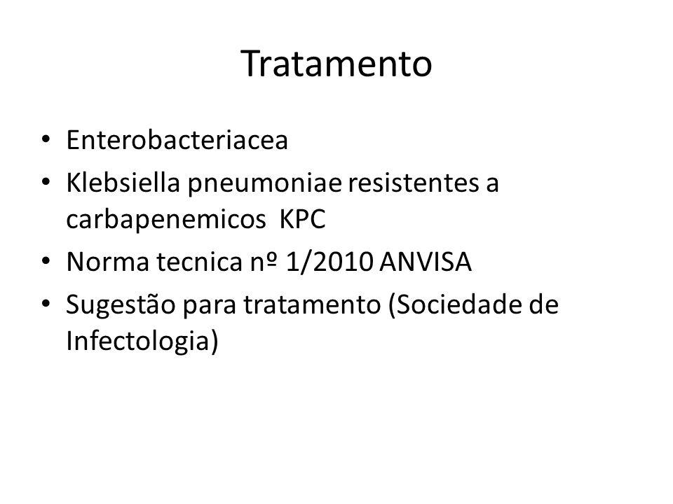 Tratamento Enterobacteriacea