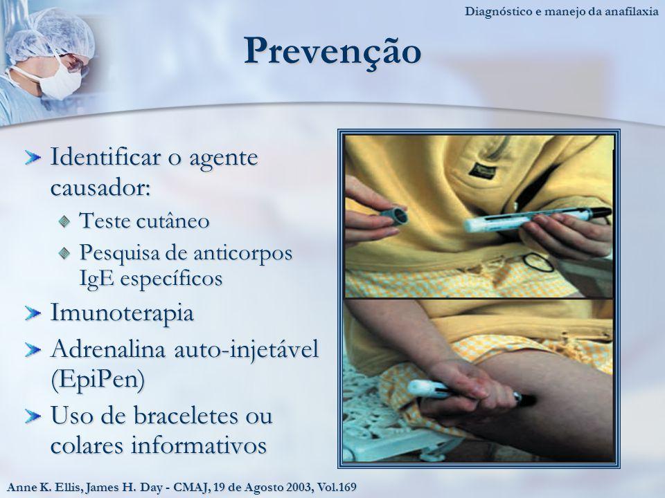 Prevenção Identificar o agente causador: Imunoterapia