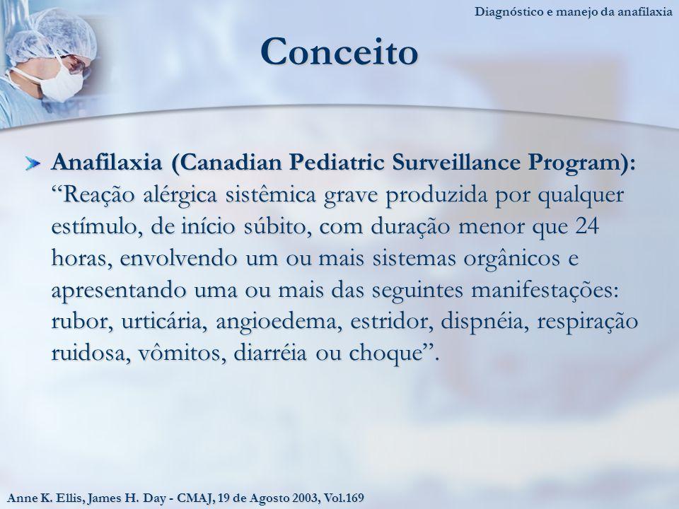 Diagnóstico e manejo da anafilaxia