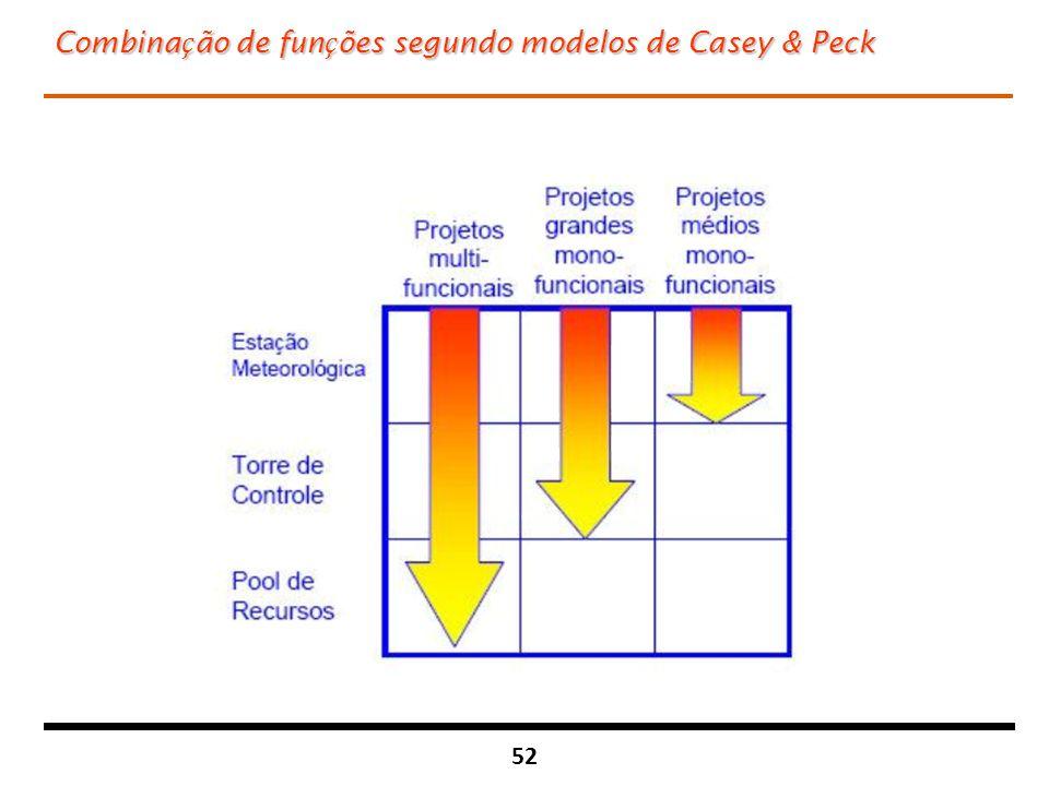 Combinação de funções segundo modelos de Casey & Peck