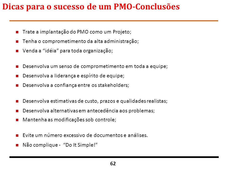 Dicas para o sucesso de um PMO-Conclusões